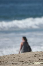 NICOLE WILLIAMS in Bijini on the Set of a Photoshoot at a Beach in Los Angeles 11/13/2015