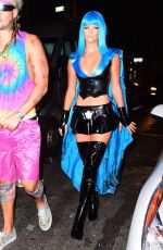 NINA AGDAL at Heidi Klum Halloween Party in New York 10/31/2015