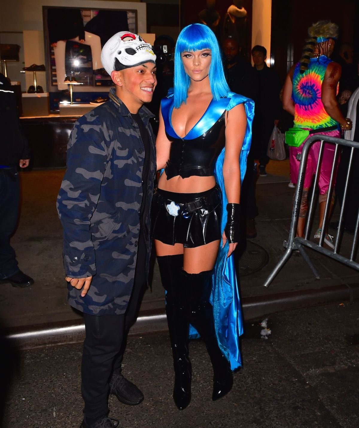 NINA AGDAL at Heidi Klum Halloween Party in New York 10/31/2015 ...