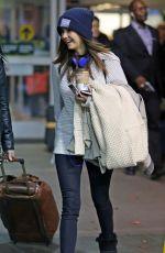 NINA DOBREV Arrives at Vancouver International Airport 11/17/2015