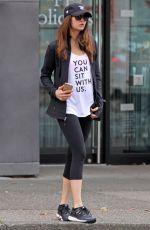 NINA DOBREV Leaves Yoga Class in Vancouver 11/18/2015
