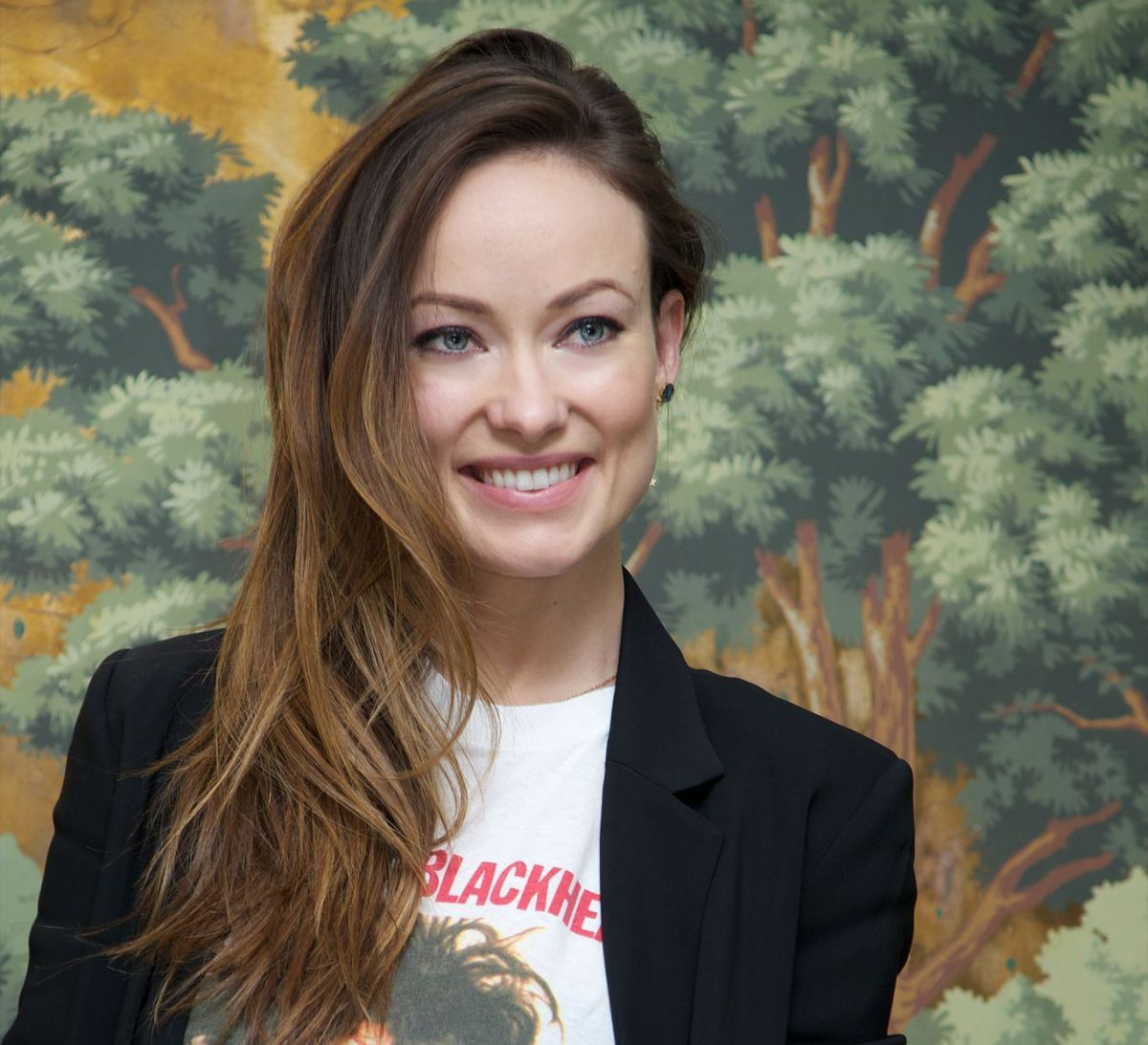 OLIVIA WILDE at Vinyl Press Conference Portraits in New York 11/21 ... Olivia Wilde