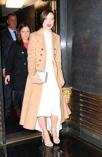 OLIVIA WILDE Leaves Rockefeller Center in New York 11/18/2015