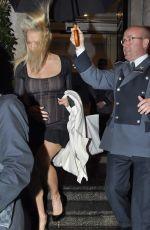 PAMELA ANDERSON Leaves Merrion Hotel in Dublin 11/15/2015