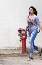 PARIS JACKSON in Ripped Jeans Out and About in Malibu 11/02/2015