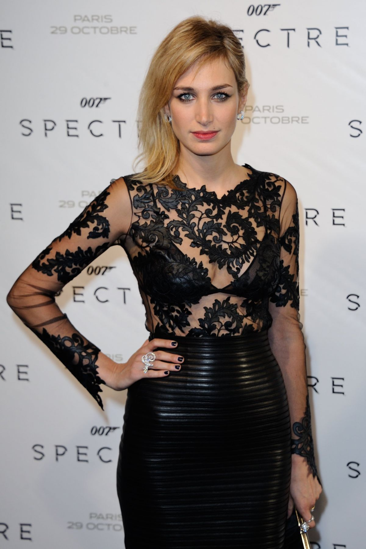 PAULINE LEFEVRE at Spectre Premiere in Paris 10/29/2015