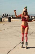 PHOEBE PRICE and ANA BRAGA Rollerblade in Venice Beach 11/20/2015