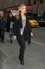 piper perabo leaving a tv station in nyc 11/2/15