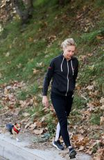 PORTIA DE ROSSI Walks Her Dog in Los Angeles 11/15/2015