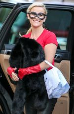 REESE WITHERSPOON Arrives at a Halloween Party 10/31/2015