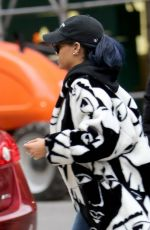 RIHANNA Arrives at Her Appartment in New York 11/22/0015