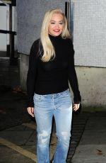 RITA ORA in Jeans Leaves ITV Studios in London 11/18/2015