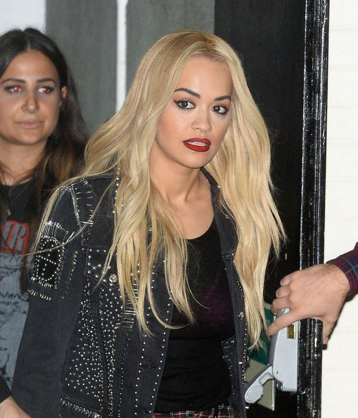 RITA ORA Leaves The X Factor Studios in London 11/29/2015