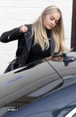 RITA ORA Leaves X Factor Set in London 11/22/2015