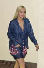 RITA ORA Leaves X Factor Studios in London 11/07/2015