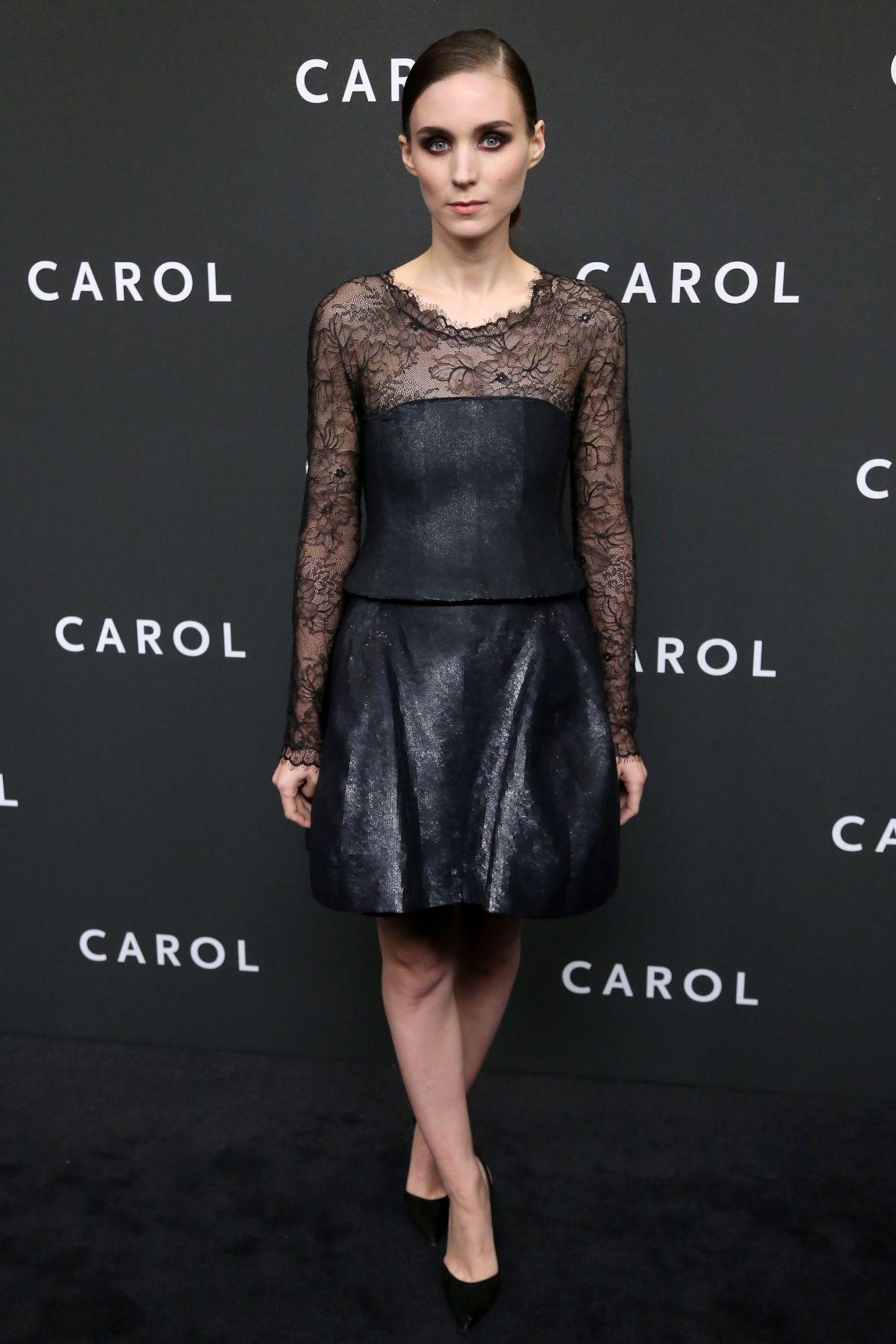 ROONEY MARA at Carol Premiere in New York 11/16/2015