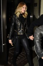 ROSIE HUNTINGTON-WHITELEY at Palm Restaurant in Beverly Hills 11/17/2015