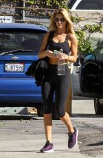 ROSIE HUNTINGTON-WHITELEY in Tights Heading to a Gym in Los Angeles 11/17/2015