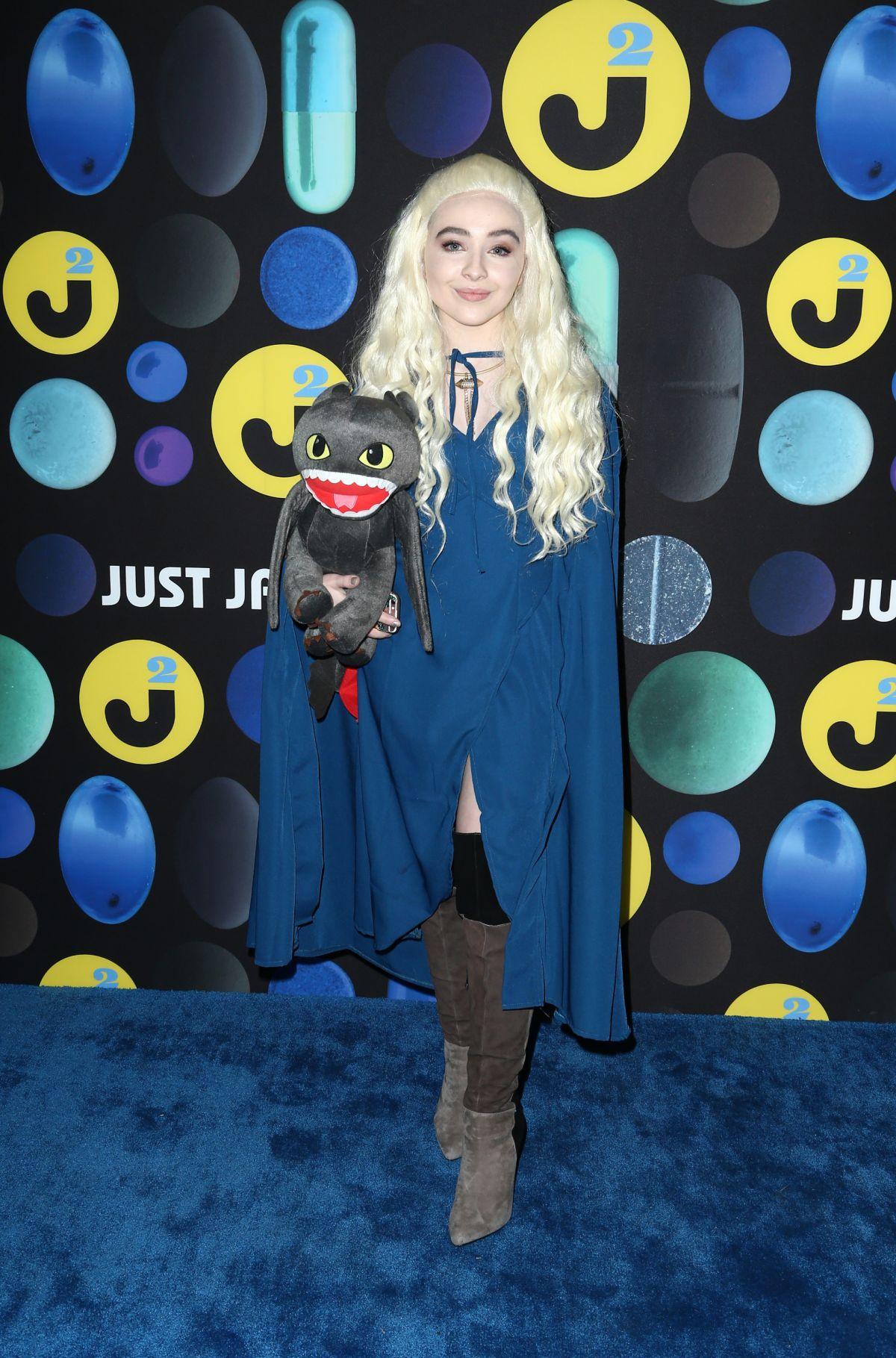 SABRINA CARPENTER at Just Jared Halloween Party in Hollywood 10/31/2015