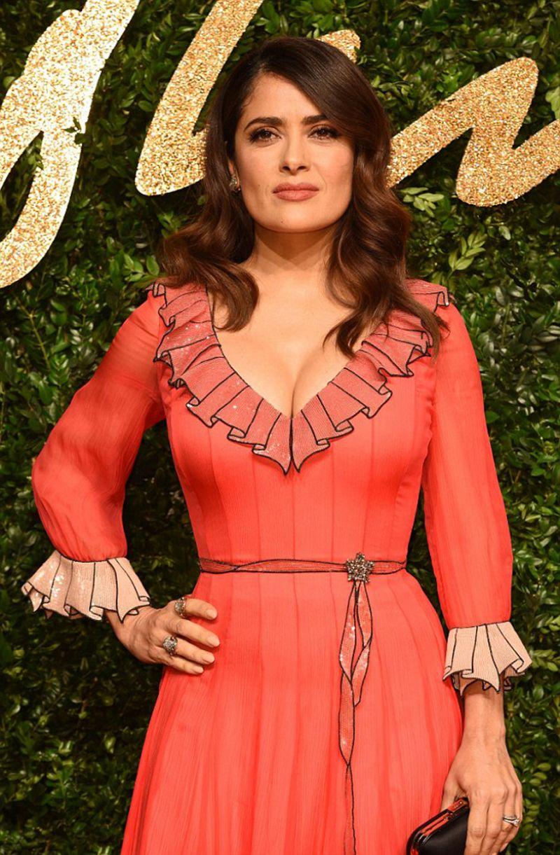 SALMA HAYEK at 2015 British Fashion Awards in London 11/23/2015