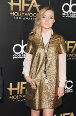 SAOIRSE RONAN at 2015 Hollywood Film Awards in Beverly Hills 11/01/2015