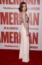 SARAH BLOGER at My All American Premiere in Los Angeles 11/09/2015
