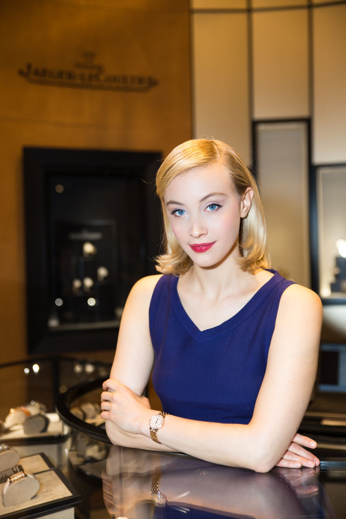 SARAH GADON at Two Worlds Photographic Exhibition by Caitlin Conenberg in New York 11/16/2015