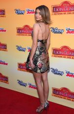 SARAH HYLAND at The Lion Guard: Return of the Roar Premiere in Burbank 11/14/2015