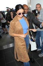 SELENA GOMEZ at Los Angeles International Airport 11/24/15