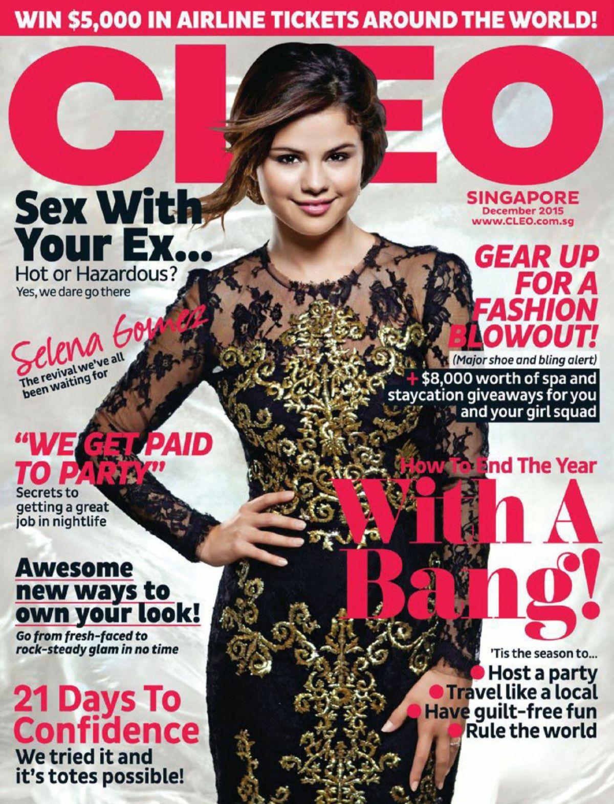 SELENA GOMEZ in Cleo Magazine, Singapore December 2015 Issue