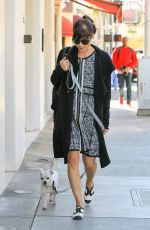 SELMA BLAIR Walks Her Hog Ducky Out in Beverly Hills 11/11/2015