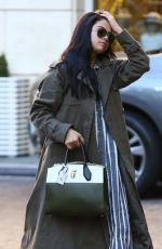 SEOLENA GOMEZ Arrives at The Peninsula Hotel in Beverly Hills 11/05/2015