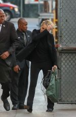 SHARON STONE Arrives at Jimmy Kimmel Live in Los Angeles 11/03/2015