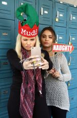 STELLA HUDGENS and ALLI SIMPSON at Kick off the Jolidays at The Ice Rink in Santa Monica 11/18/2015