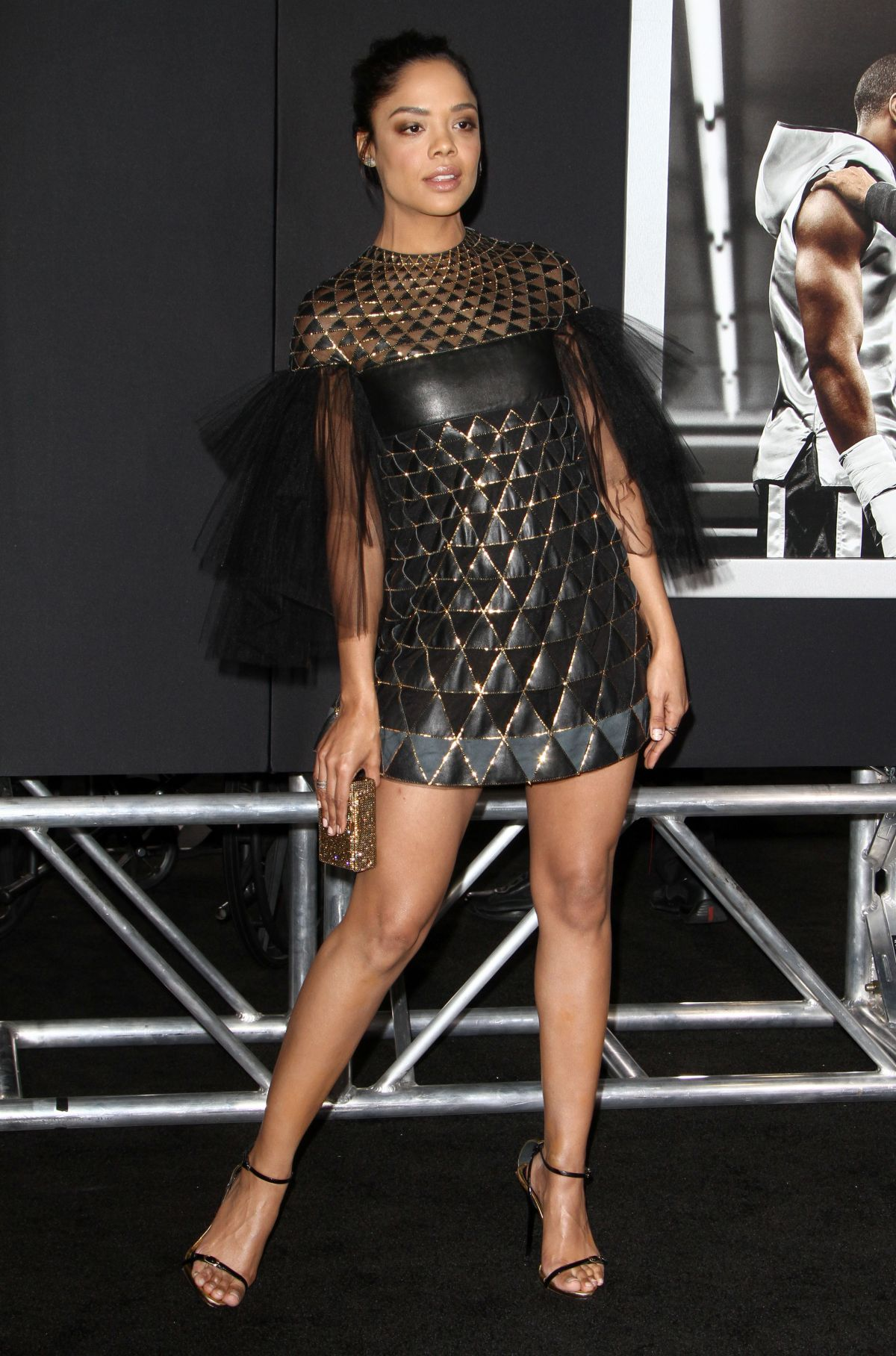 TESSA THOMPSON at Creed Premiere in Westwood 11/19/2015
