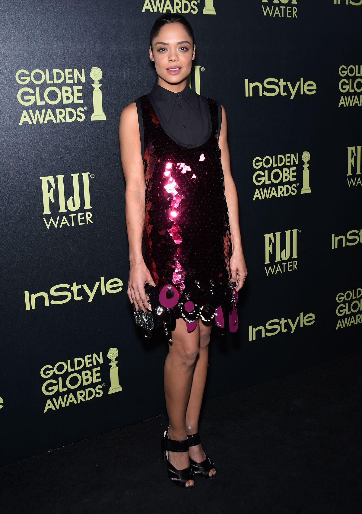 TESSA THOMPSON at hfpa and Instyle Celebrate 2016 Golden Globe Award Season in West Hollywood 11/17/2015