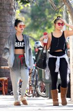 VANESSA and STELLA HUDGENS at Aroma Coffee & Tea in Los Angeles 11/06/2015
