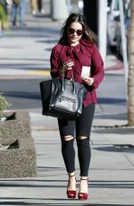 VANESSA and STELLA HUDGENS Leaves Palihouse Restaurant in West Hollywood 11/15/2015
