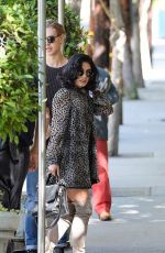 VANESSA HUDGENS Outside Sunset Marquis Hotel in Los Angeles 11/19/2015