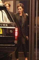 VICTORIA BECKHAM Leaves Beaumont Hotel in London 11/23/2015