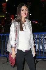 VICTORIA JUSTICE Arrives at Maple Leafs Rangers Game in New York 11/15/2015