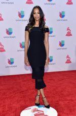 ZOE SALDANA at 2015 Latin Grammy Awards in Las Vegas 11/18/2015