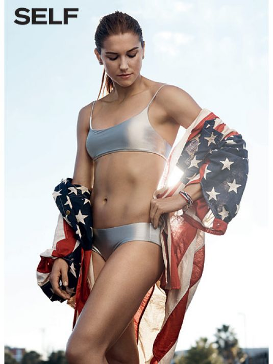 ALEX MORGAN in Self Magazine
