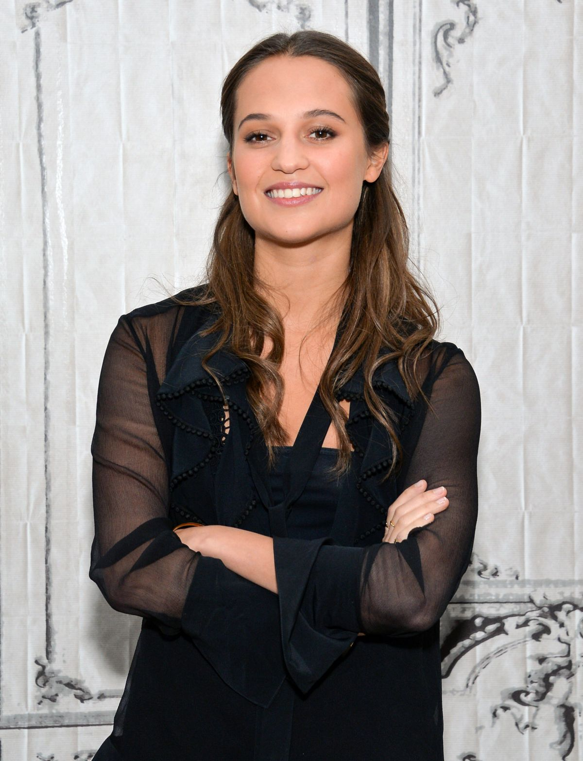 ALICIA VIKANDER at AOL Build Speaker Series in New York 12/15/2015