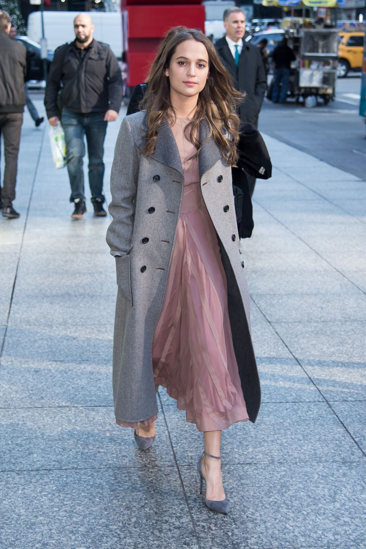 ALICIA VIKANDER Out and About in New York 12/16/2015