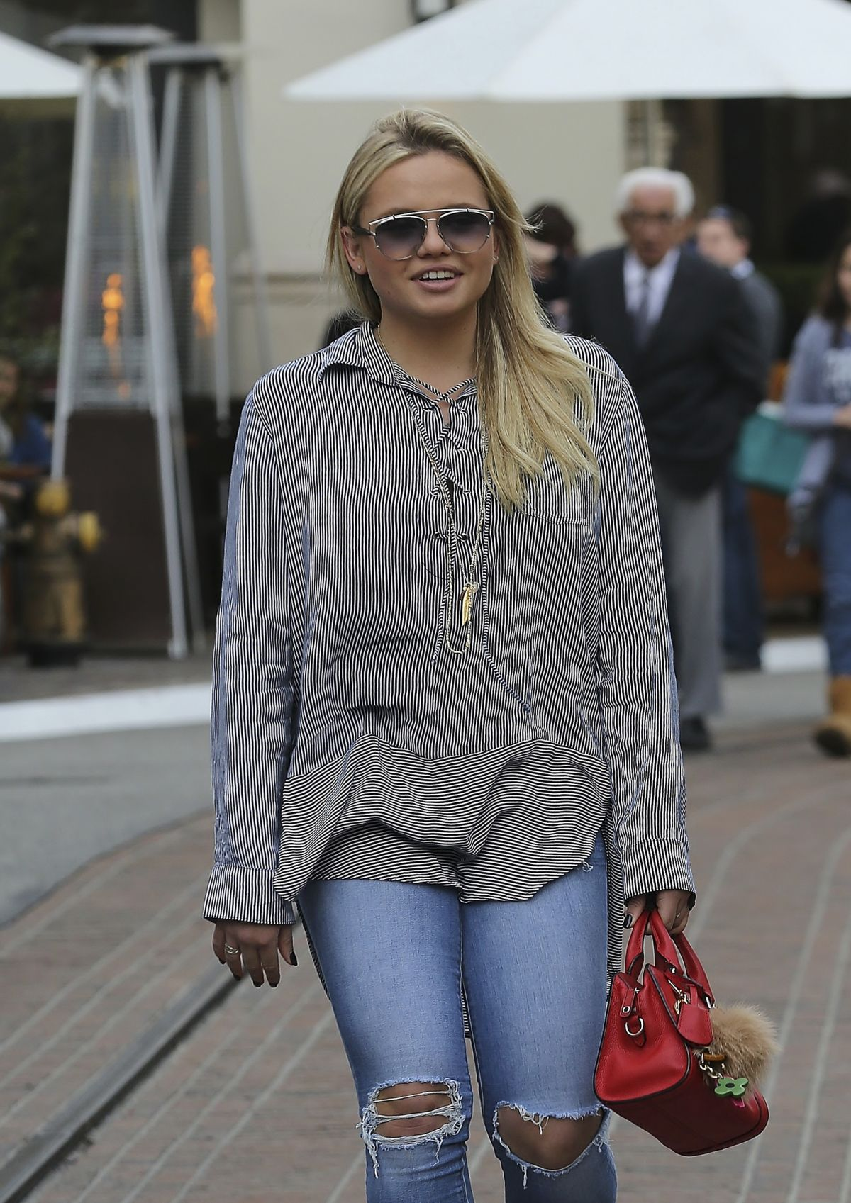 ALLI SIMPSON Out Shopping at The Grove in West Hollywood 12/21/2015