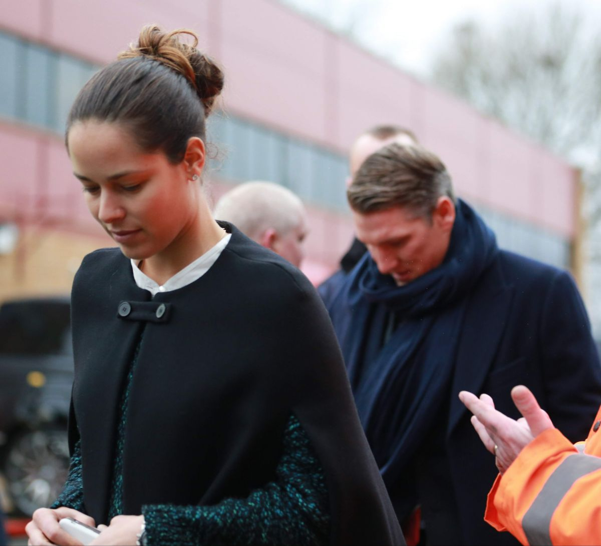 ANA IVANOVIC and Bastian Schweinsteiger Arrives at Old Trafford in Manchester 12/16/2015