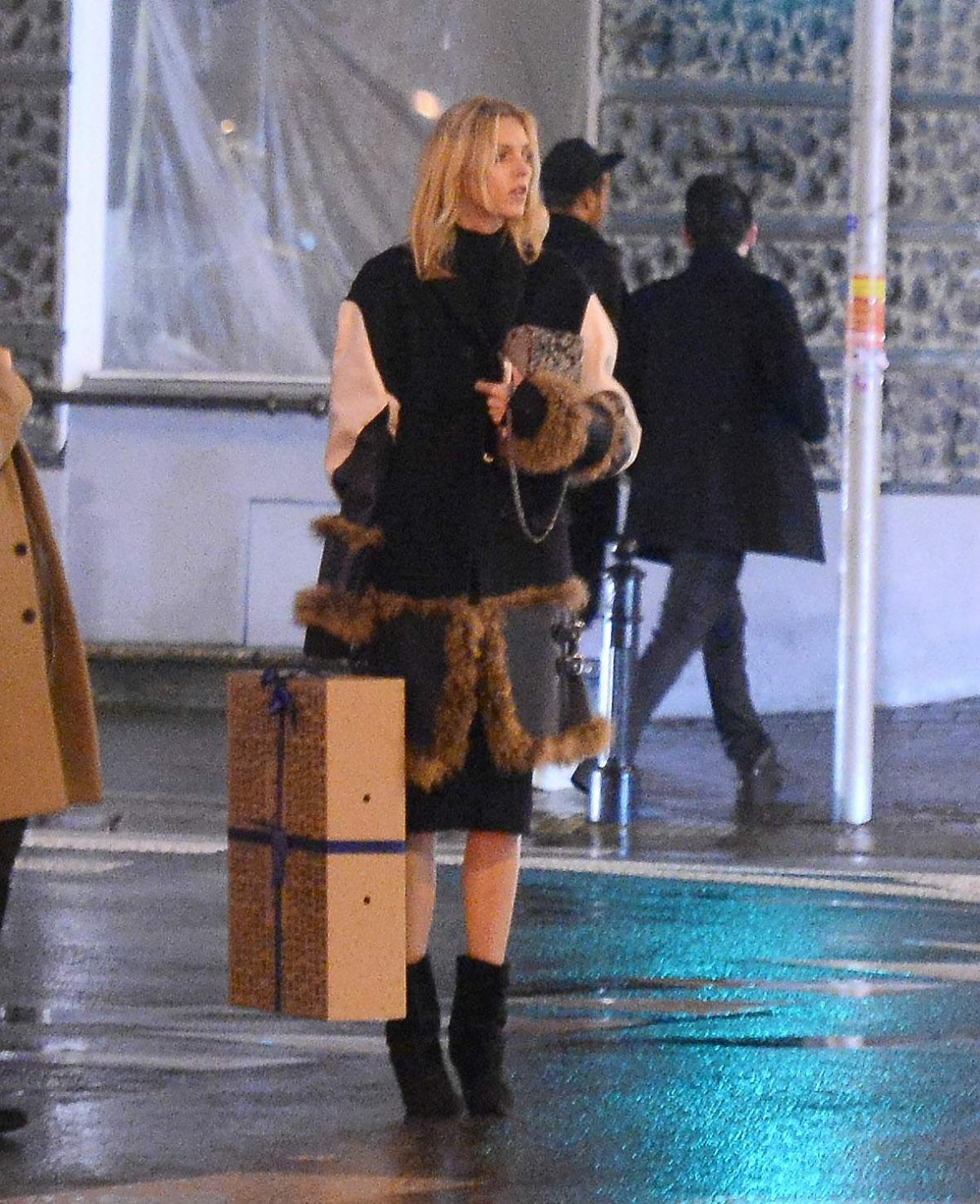ANJA RUBIK Out for Dinner in Warsaw 12/21/2015