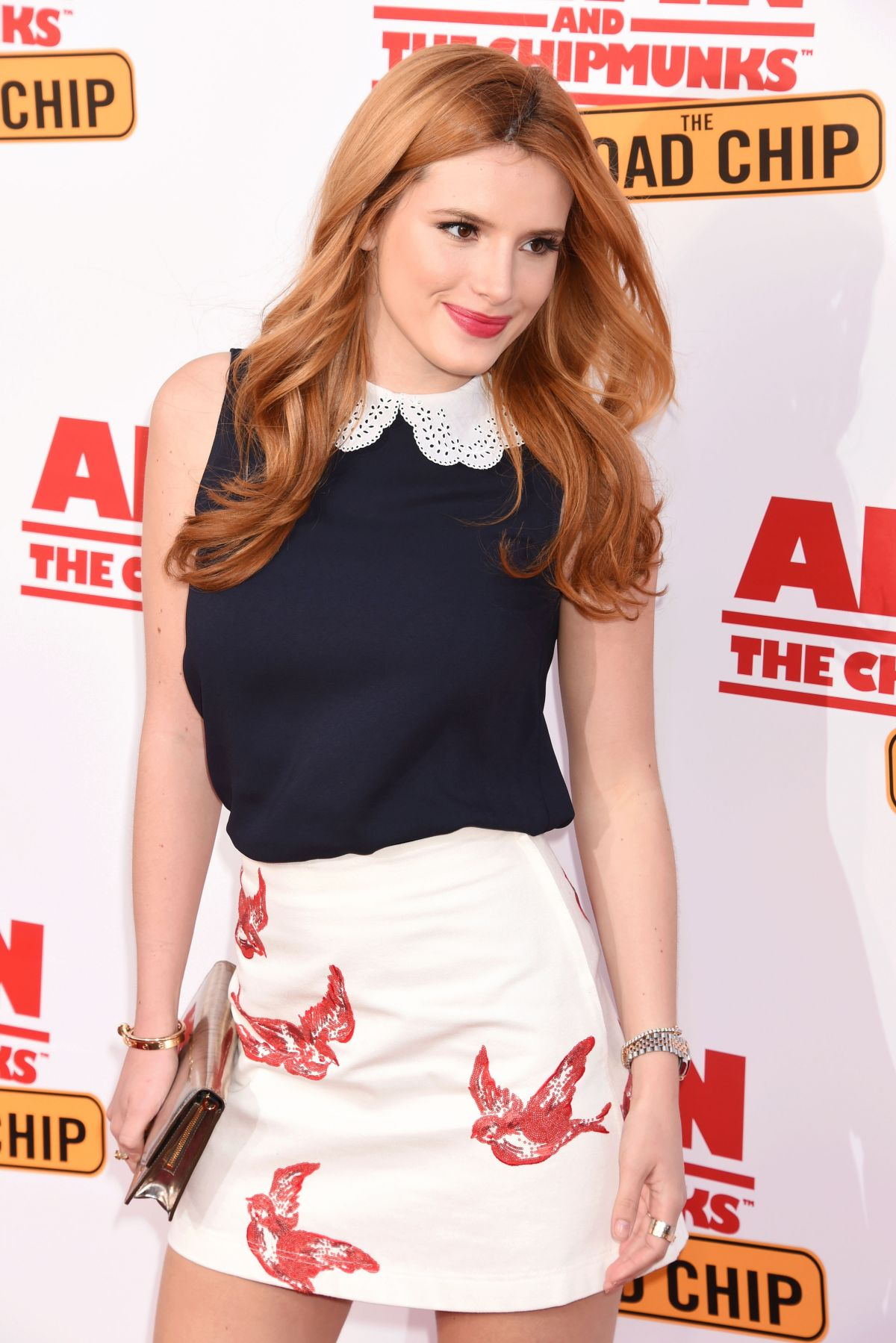 BELLA THORNE at Alvin and Chipmunks:  The Road Trip Screening in Los Angeles 12/12/2015