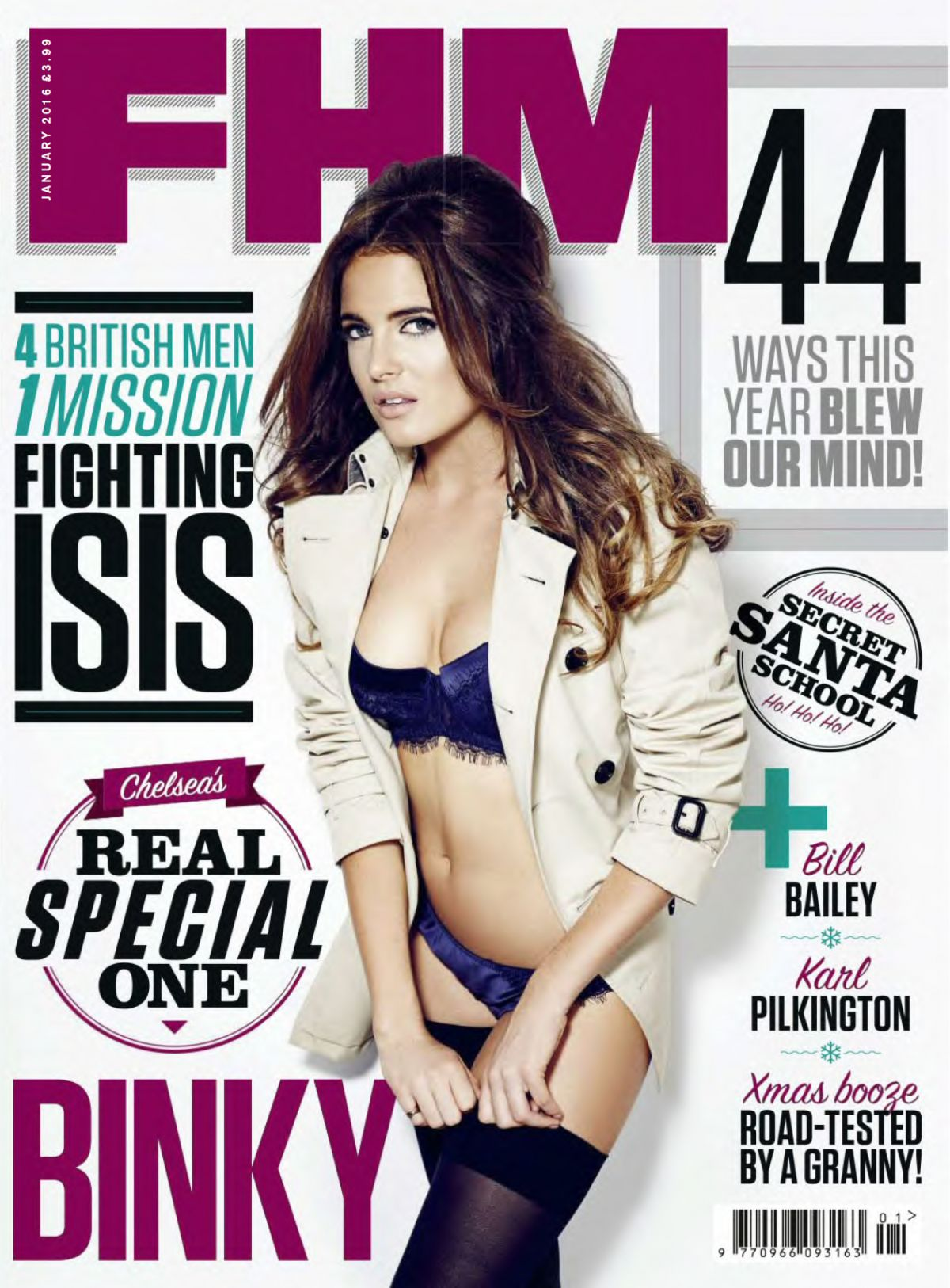 BINKY FELSTEAD in FHM Magazine, UK January 2016 Issue